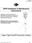 foot valve installation instructions